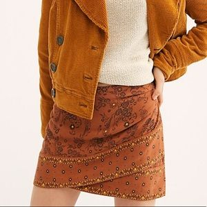 Free People That's a Wrap Printed Mini Skirt
